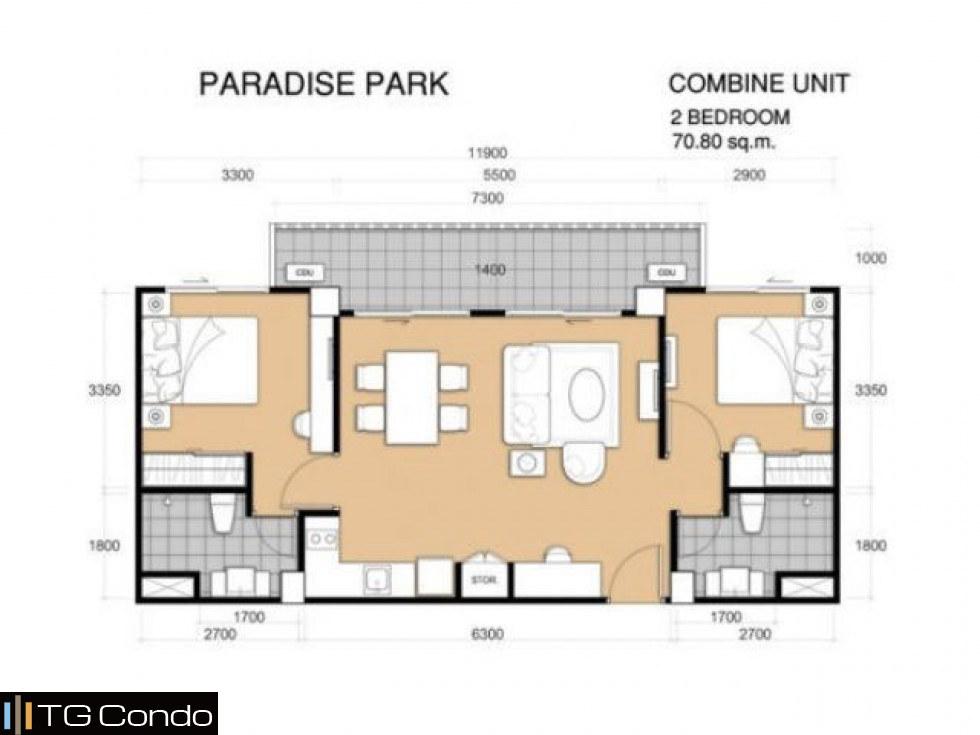 Paradise Park Condo